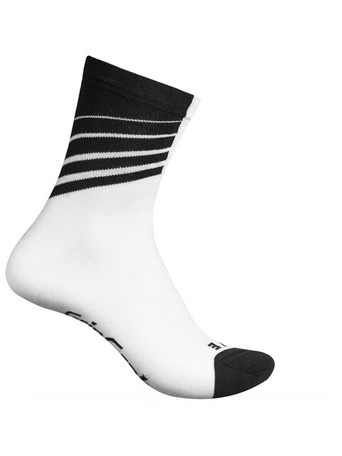 GripGrab Racing Stripes Cycling Socks White/Black